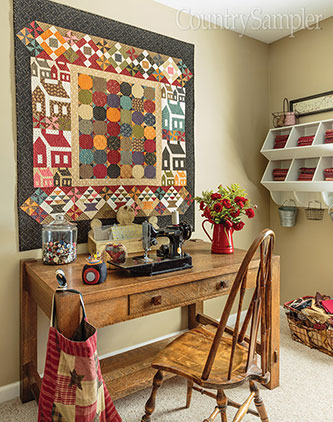 Colorful Sewing Space